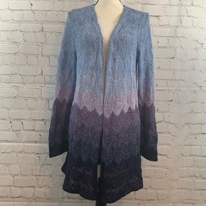 Chico's womens long open front sweater sz 1 medium